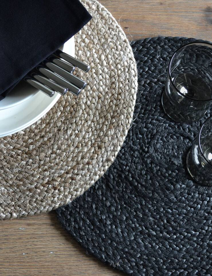 Jute placemats rond